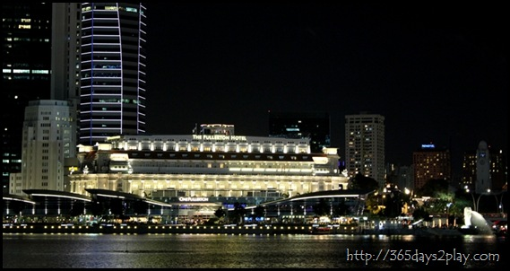 Fullerton Hotel at Night