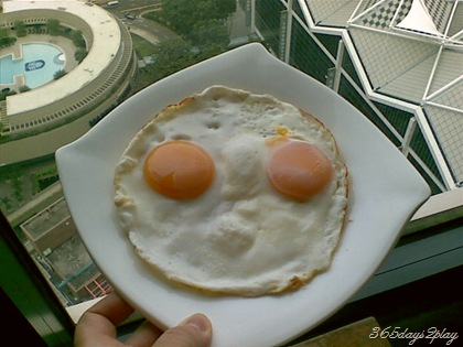 Fried Egg face on air