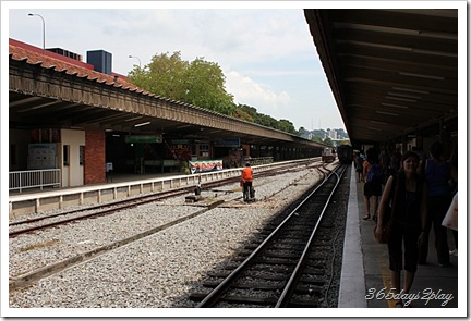 Tanjong Pagar Railway Station train tracks