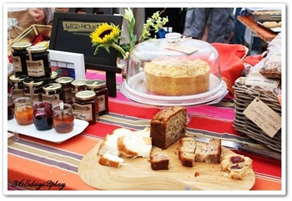 Wild Honey baked goods and jams close up shot