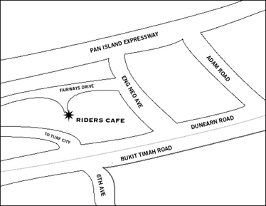 Map of Riders Cafe