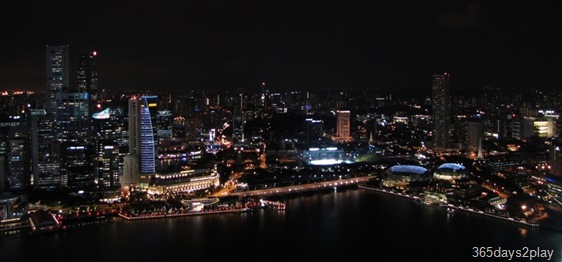 Night view of Singapore from the Marina Bay Sands SkyPark