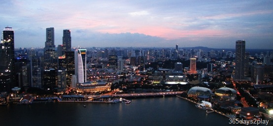 View of Singapore from the Marina Bay Sands SkyPark