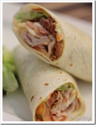 Room Turkey BLT wrap