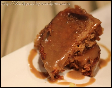 Cafe Epicurious - Sticky date pudding with caramel sauce