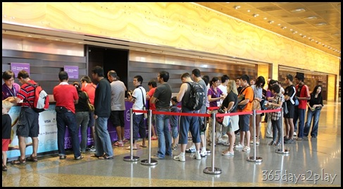 International Convention Centre Ticket line