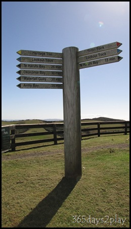 Shakespear Park - Direction Post