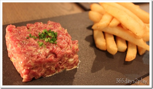 The Disgruntled Chef - Steak Tartare and soft quail egg