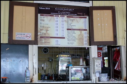 Kluang Railway Station - Kopi Menu
